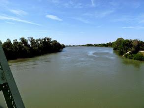 Photo: nous passons le Petit Rhône à Sylvéréal ...
