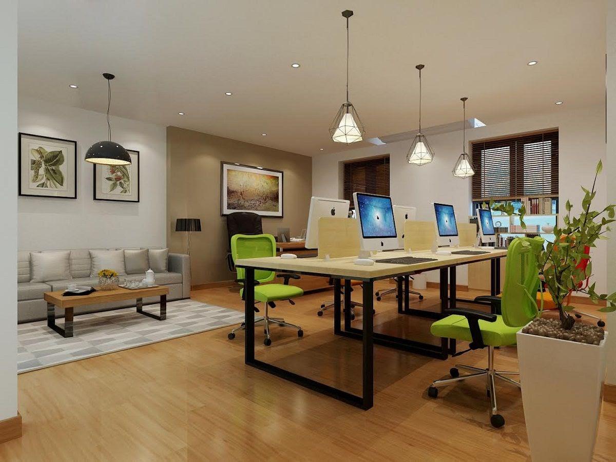 thiết kế văn phòng công ty trẻ trung