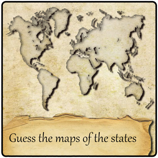 Guess the maps of the states (game)