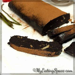 No-bake Eggless Chocolate Salami.