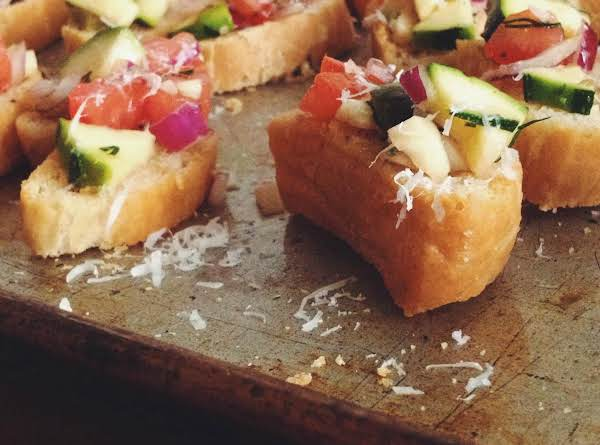 Chopped Tomato Salad Crostini Recipe