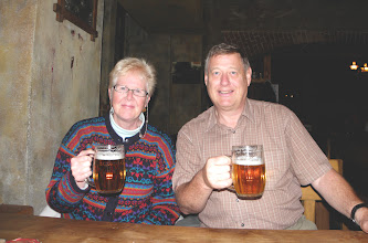 Photo: Our first czech beer (pivo)