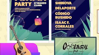 Cartel anunciador de la Pijama Party que promueve Cooltural Fest.