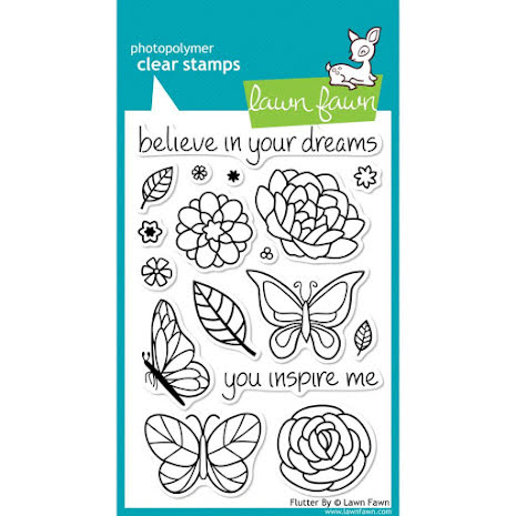 Lawn Fawn Clear Stamps 4X6 - Flutter By