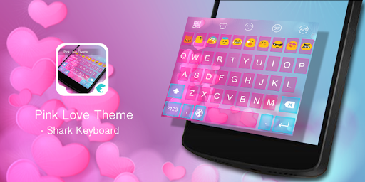 Emoji Keyboard-Pink Love