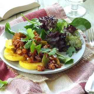 Ethiopian Berbere Spiced Chickpeas and Polenta.