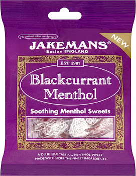 Jakemans Blackcurrant Menthol Soothing Sweets - 100g