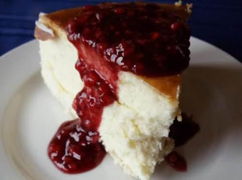 "Raspberry Gran Marnier Cheesecake ""I have made this cheesecake a few times..."