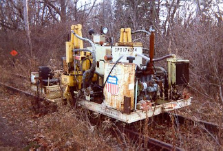 Photo: UP track machine parked in the park.