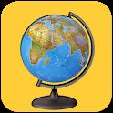 Offline world map 2020- world atlas - world map icon