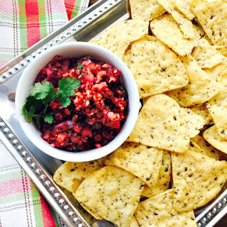 21 Day Fix Cranberry Holiday Salsa.