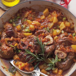 Italian Braised Rose Veal and Vegetables.