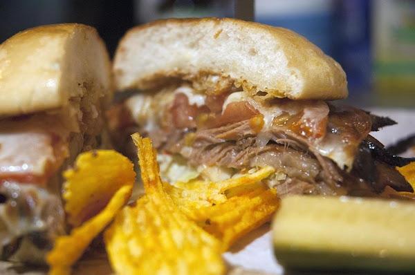 Smoked Brisket Sandwich With Slaw & Provolone Recipe