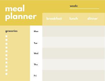 Modern Meal Planner - Planner template