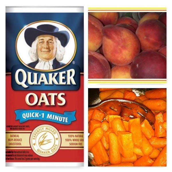 Oatmeal, Rice Krispies Peaches, Apple (chopped), Cinnamon, Cloves Cooked Carrots, Sweet Potatoes, Pumpkin or Squash (mashed...