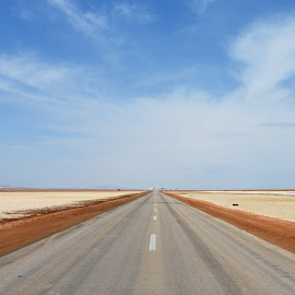 Do you feel it? A great freedom. by Marcel Cintalan - Landscapes Deserts ( iran, sky, desert, highway, freedom, feeling )