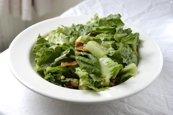 Bacon, Chickpea, Avocado Salad