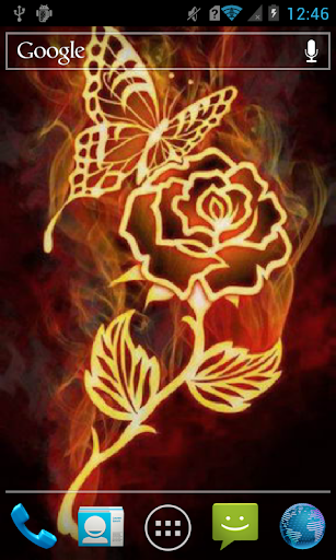 Rose and butterfly Live WP