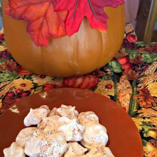 Pumpkin Spice Meringue Cookies