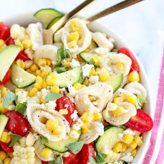Summer Corn, Tomato and Tortellini Pasta Salad.