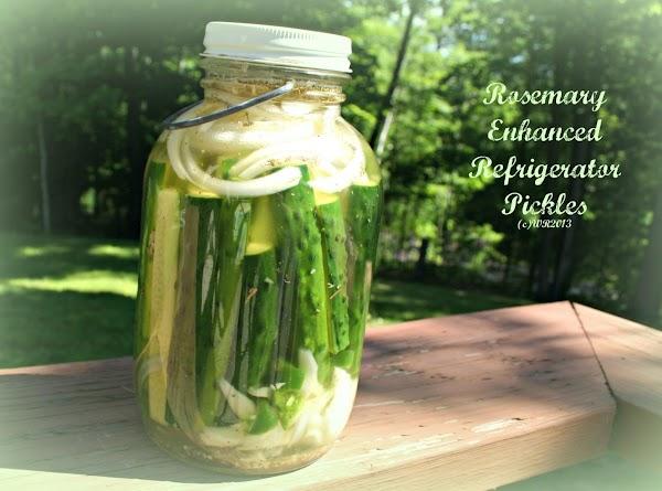 Rosemary Enhanced Refrigerator Pickles Recipe