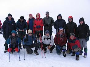 Photo: Prva skupina na vrhu.