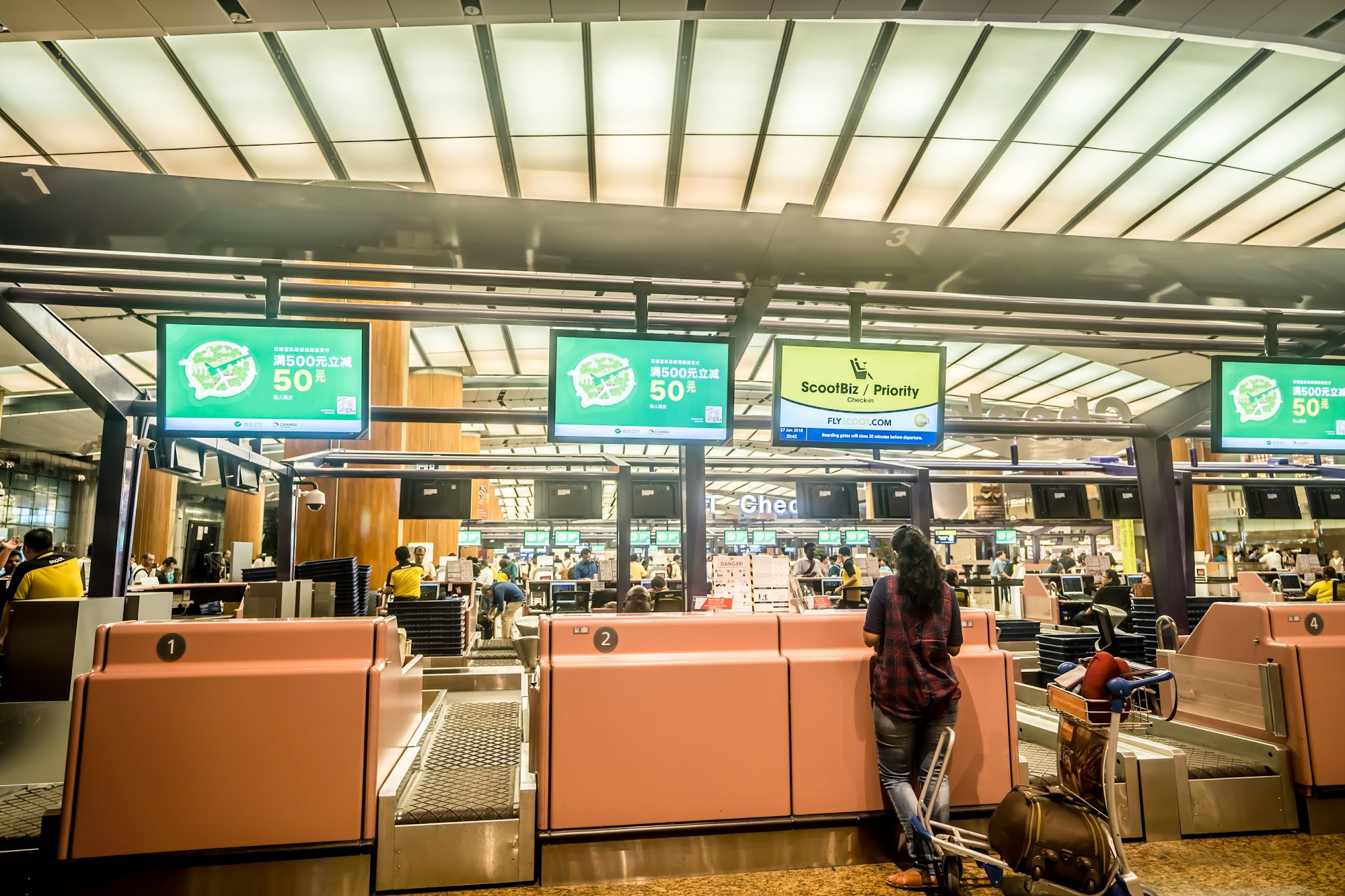 Singapore Changi Airport Scoot