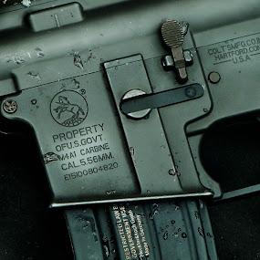 M4A1 Carbine  by Ellason Boyle - Artistic Objects Other Objects ( silver, carbine, dark, m4a1, rustic, gun, black )