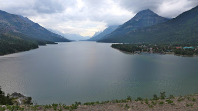Photo: View of Upper Waterton Lake from Prince of Wales Hotel just before the rain started Saturday evening