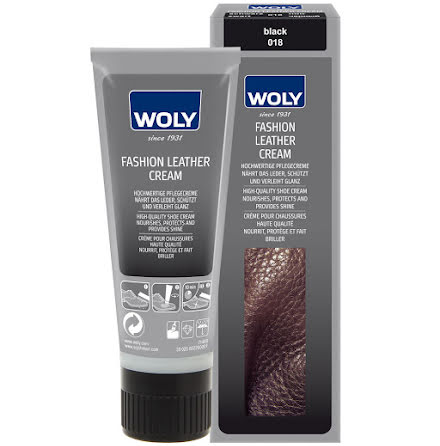 Woly fashion leather cream black