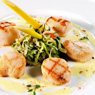 Simple Grilled Scallops.