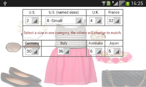 Women Clothing Size screenshot 3