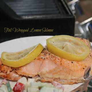 Foiled Lemon Grilled Salmon.