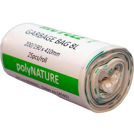 Soppåse Polynature 8l vit 25/r