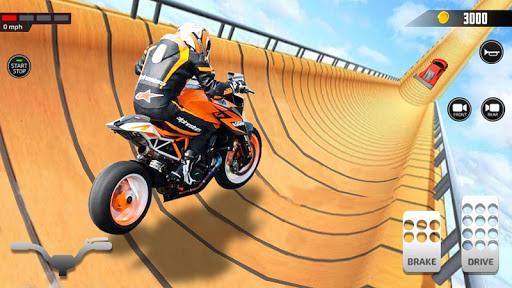 Impossible Mega Ramp Moto Bike Rider Stunts Racing screenshots 5
