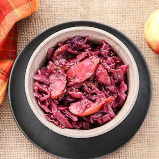 Slow Cooker Red Cabbage & Apples -Braised Red Cabbage.