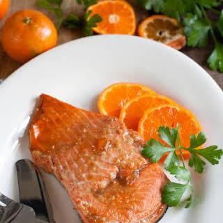Baked Marmalade Salmon.