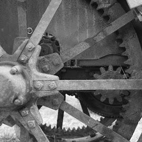 by Darrin McNett - Black & White Objects & Still Life ( gears, tractor,  )