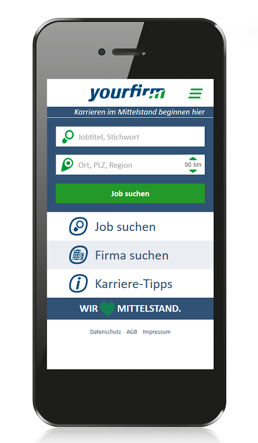 Jobbörse Yourfirm- screenshot