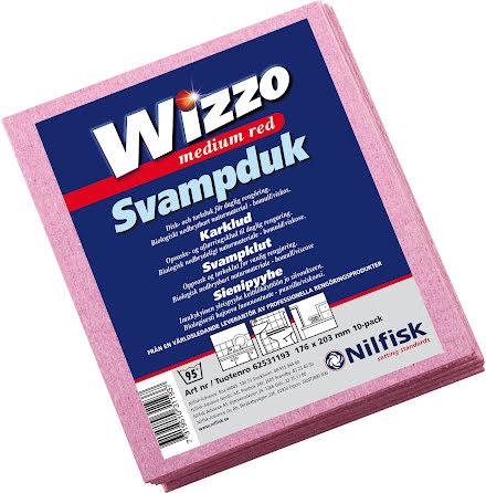 Diskduk Wizzo medium röd 10/fp