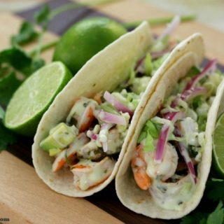 Cilantro Lime Shrimp Tacos.