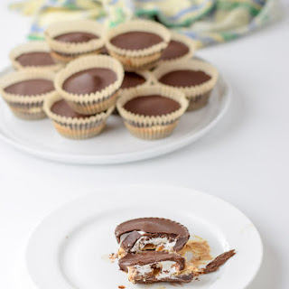 Dark Chocolate Caramel Marshmallow Cashew Butter Cups