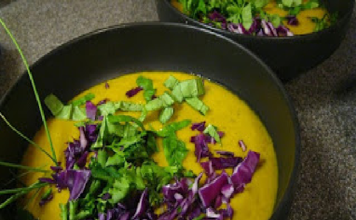 Creamy Carrot And Avocado Soup