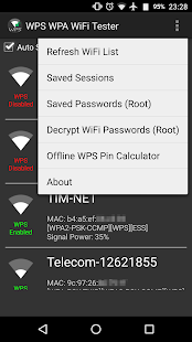 WPS WPA WiFi Tester (No Root) Screenshot