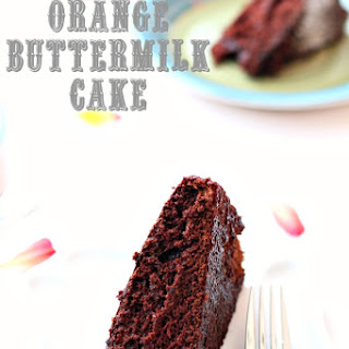 Chocolate Orange Cake Buttermilk Recipes