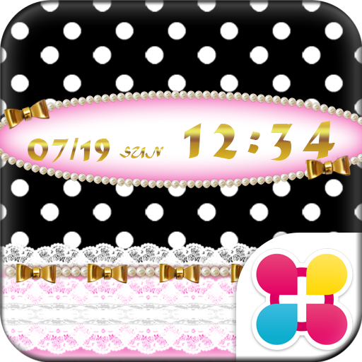 ドット壁紙 Lace & Gold ribbon Icon