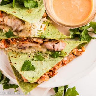 Kimchi Chicken Quesadillas