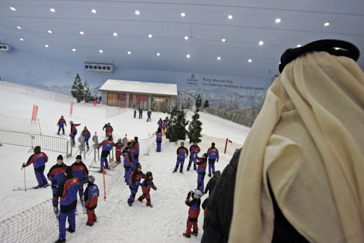 Nationals and foreign residents enjoy the indoor skiing facility of Dubai. Dubai's current indoor ski resort, opened in 2005 in the Mall of the Emirates, remains the largest in the world, according to the Guinness World Records website, boasting a 400-metre (yard) slope.