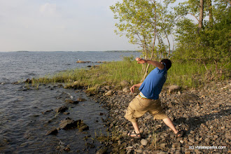 Photo: Skipping stones at Burton Island State Park by Ellie Stover