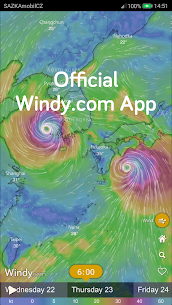 Windy: wind, waves and hurricanes forecast 1